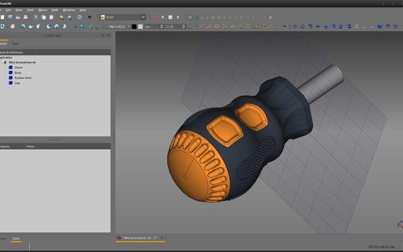 Скриншот 1 программы FreeCAD