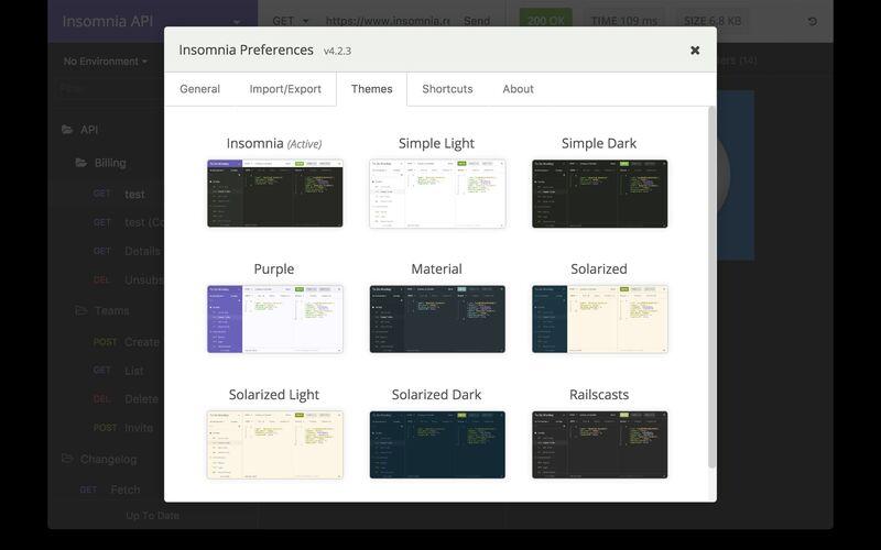 Скриншот 1 программы Insomnia REST Client