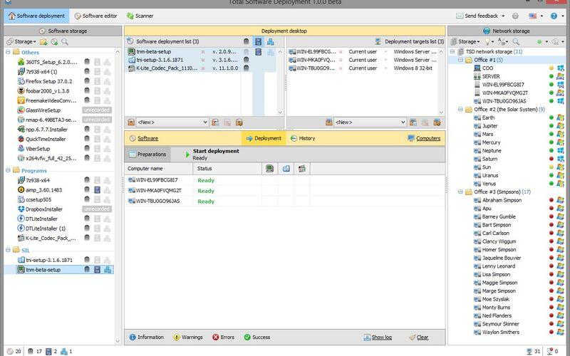 Скриншот 1 программы Total Software Deployment