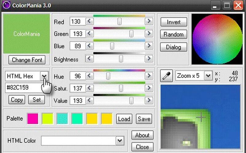 Скриншот 1 программы ColorMania