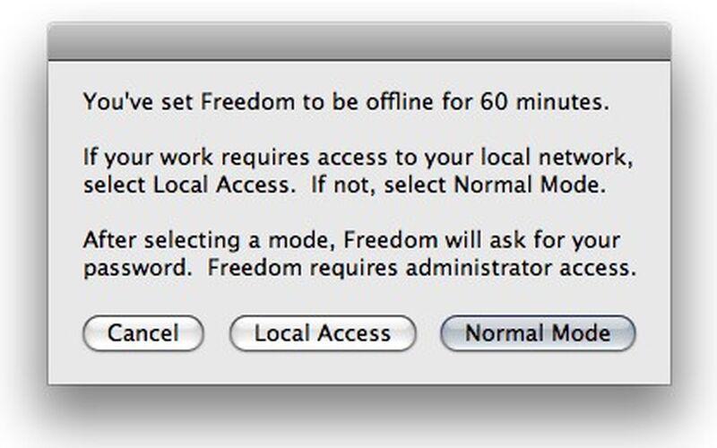 Скриншот 1 программы Freedom