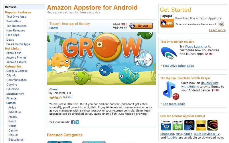 Скриншот 1 программы Amazon Appstore