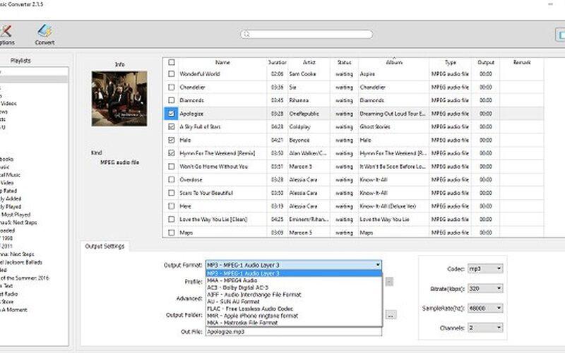 Скриншот 1 программы Apple Music Converter