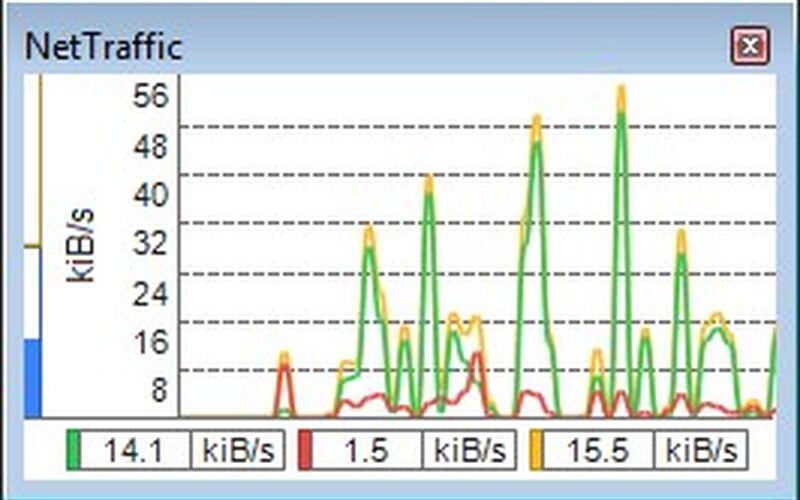 Скриншот 1 программы NetTraffic