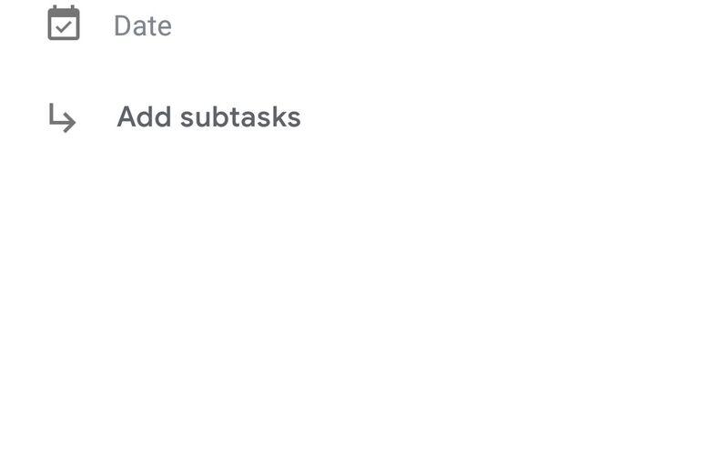 Скриншот 1 программы Google Tasks