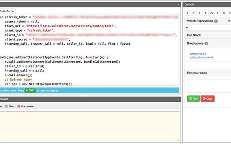 Скриншот 1 программы Voximplant