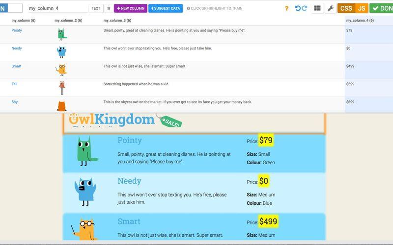 Скриншот 1 программы import.io