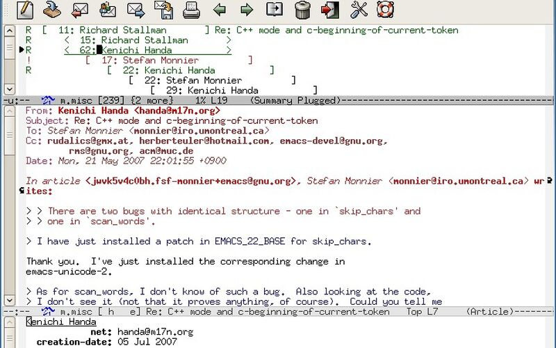 Скриншот 1 программы GNU Emacs