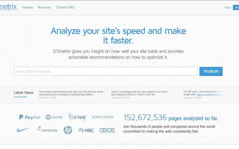 Скриншот 1 программы Gtmetrix