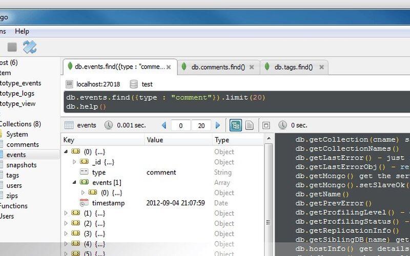 Скриншот 1 программы Robo 3T