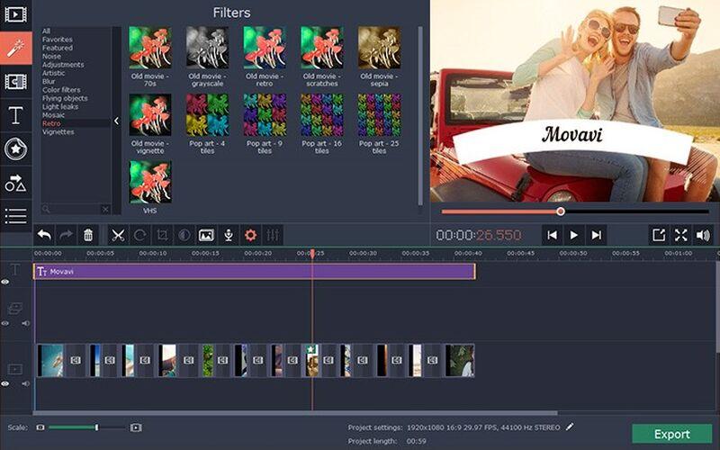 Скриншот 1 программы Movavi Video Editor