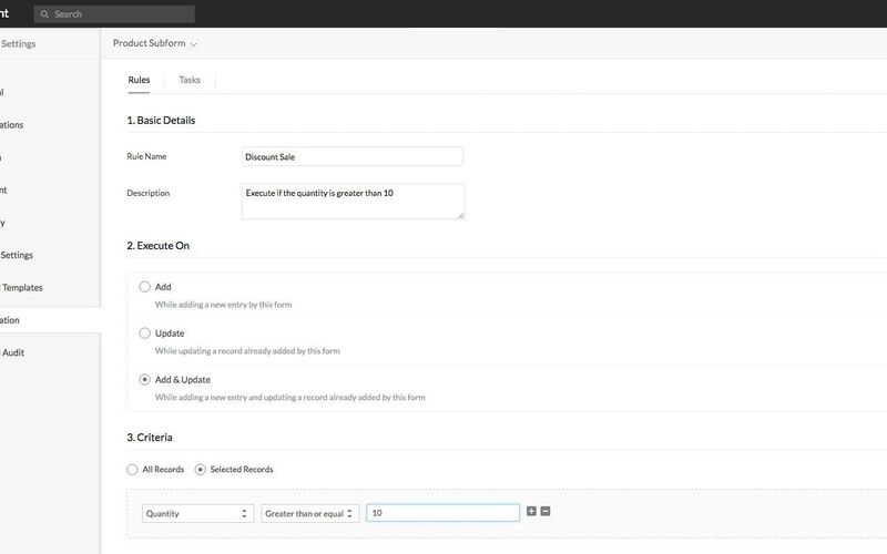 Скриншот 1 программы Zoho Creator