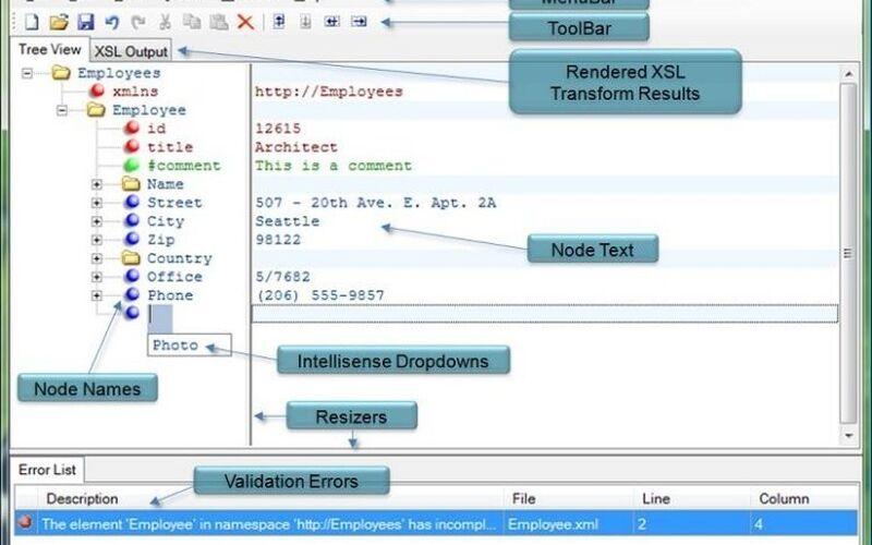 Скриншот 1 программы XML Notepad