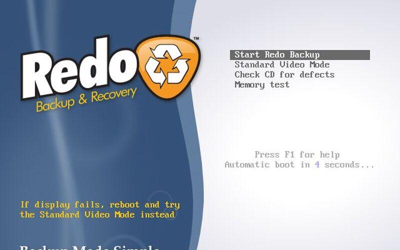 Скриншот 1 программы Redo Backup and Recovery