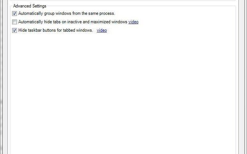 Скриншот 1 программы WindowTabs