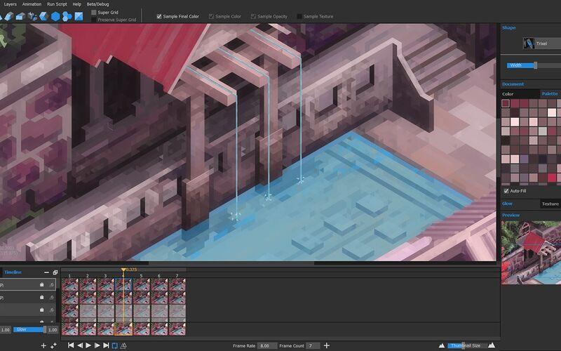Скриншот 1 программы Marmoset Hexels 2