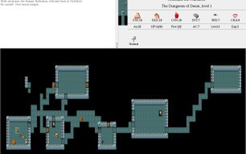 Скриншот 1 программы NetHack