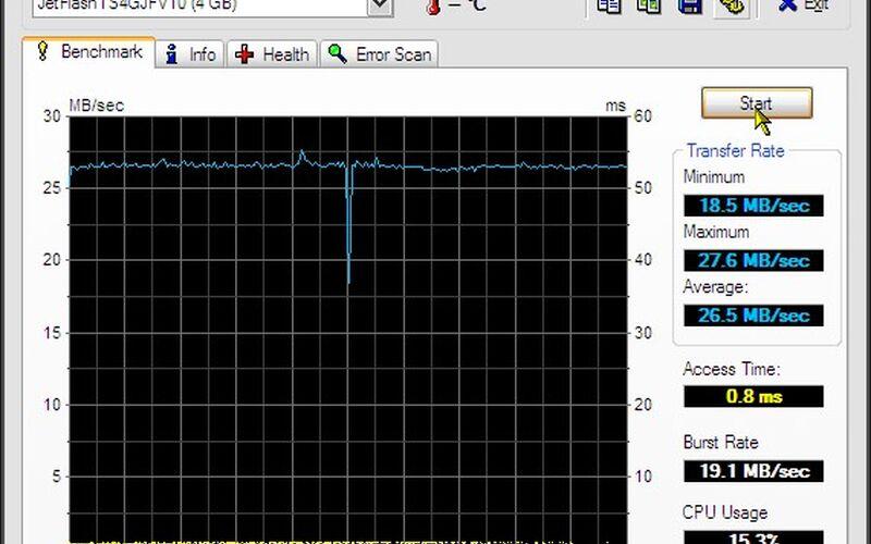 Скриншот 1 программы HD Tune