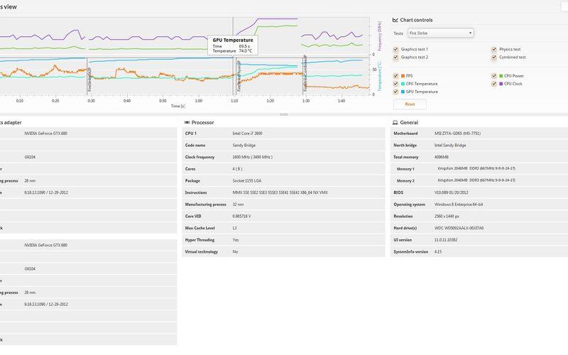 Скриншот 1 программы 3DMark