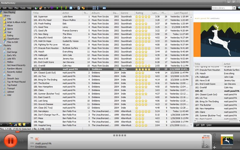 Скриншот 1 программы MediaMonkey