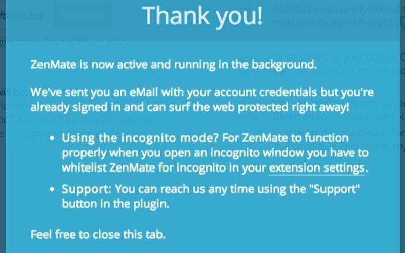 Скриншот 1 программы ZenMate
