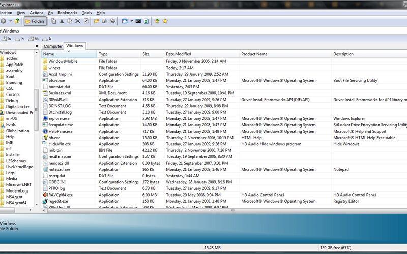 Скриншот 1 программы Explorer++