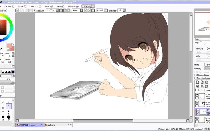 Скриншот 1 программы PaintTool SAI