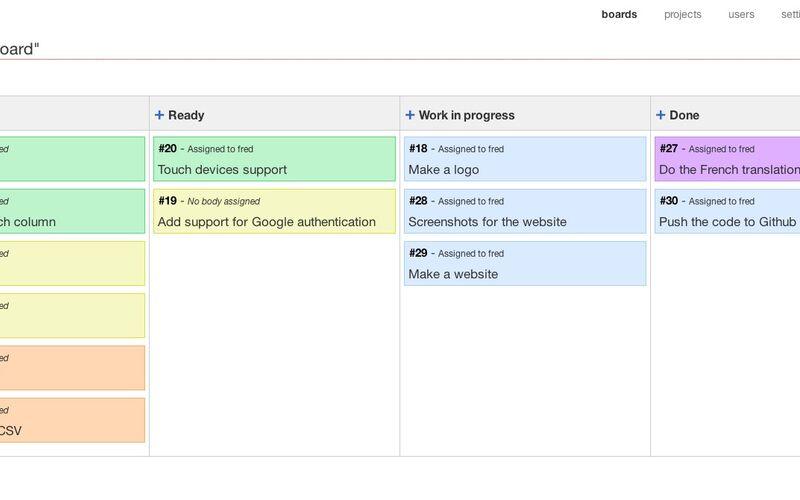 Скриншот 1 программы Kanboard