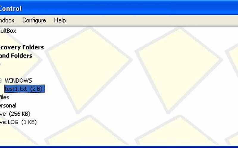 Скриншот 1 программы Sandboxie