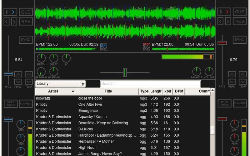 Скриншот 1 программы Mixxx