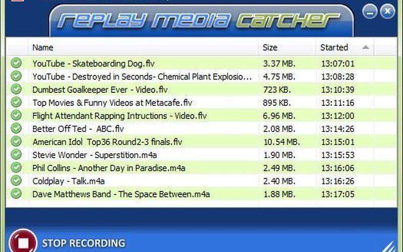 Скриншот 1 программы Replay Media Catcher