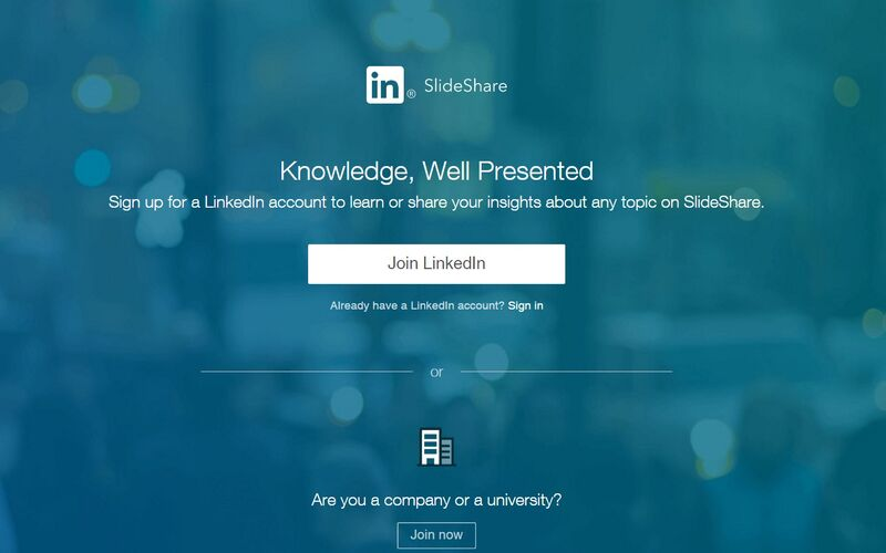 Скриншот 1 программы LinkedIn SlideShare