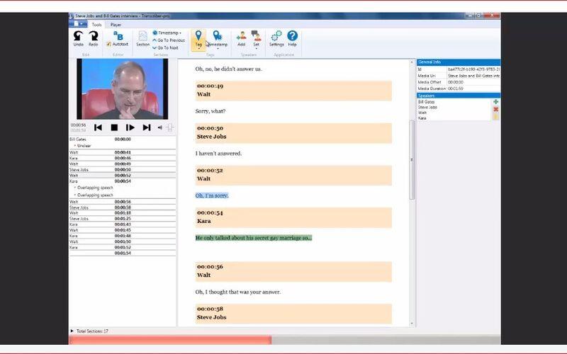 Скриншот 1 программы Transcriber Pro