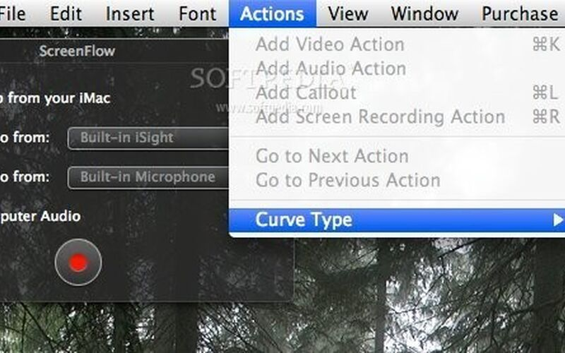 Скриншот 1 программы ScreenFlow