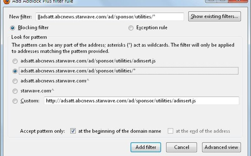 Скриншот 1 программы Adblock Plus