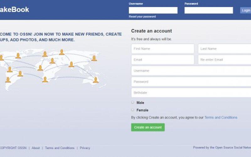 Скриншот 1 программы Open Source Social Network ( OSSN )