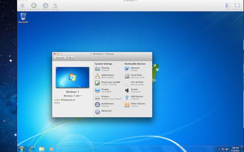 Скриншот 1 программы VMware Fusion