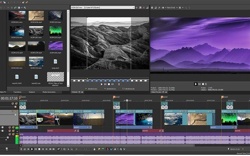 Скриншот 1 программы MAGIX Vegas Pro