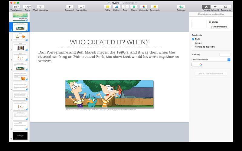 Скриншот 1 программы Keynote