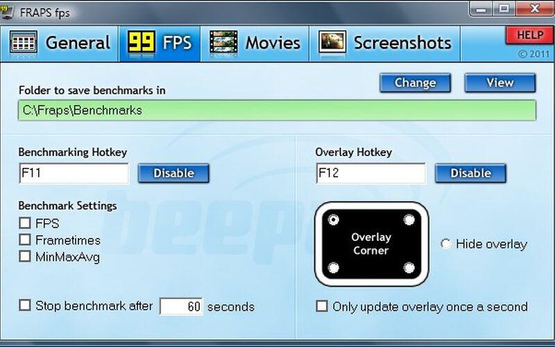 Скриншот 1 программы Fraps