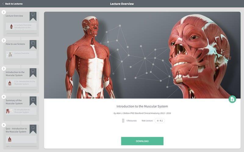 Скриншот 1 программы Complete Anatomy