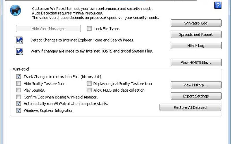 Скриншот 1 программы Winpatrol