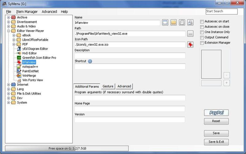 Скриншот 1 программы SyMenu