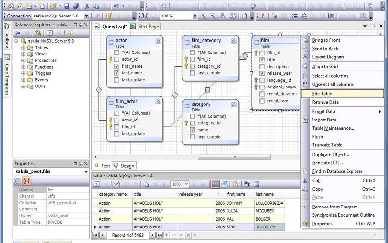 Скриншот 1 программы dbForge Studio for MySQL