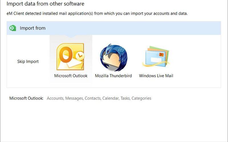Скриншот 1 программы eM Client