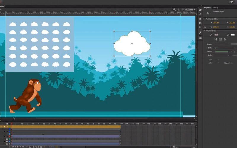 Скриншот 1 программы Adobe Animate CC