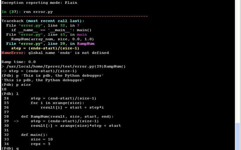 Скриншот 1 программы IPython