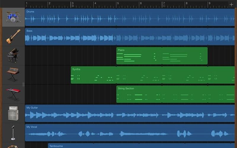 Скриншот 1 программы GarageBand