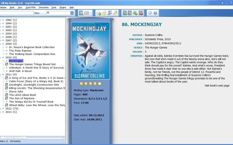 Скриншот 1 программы All My Books