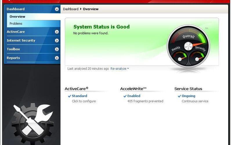Скриншот 1 программы System Mechanic